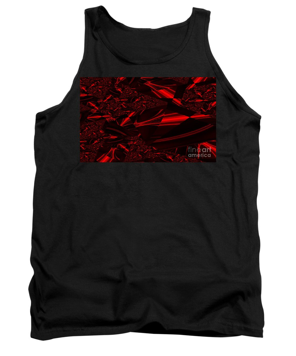 Clay Tank Top featuring the digital art Chrome In Red by Clayton Bruster