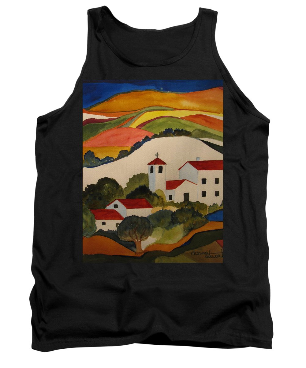 Tank Top featuring the painting Church by Donna Steward
