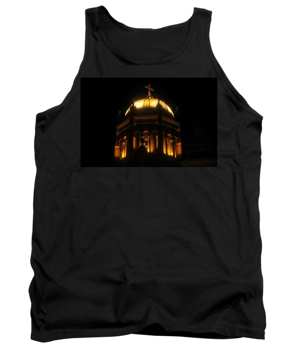 Flagler Memorial Tank Top featuring the photograph Church Lights by David Lee Thompson