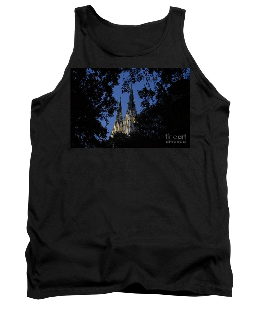 Church Steeple Tank Top featuring the photograph Church Steeples by David Lee Thompson