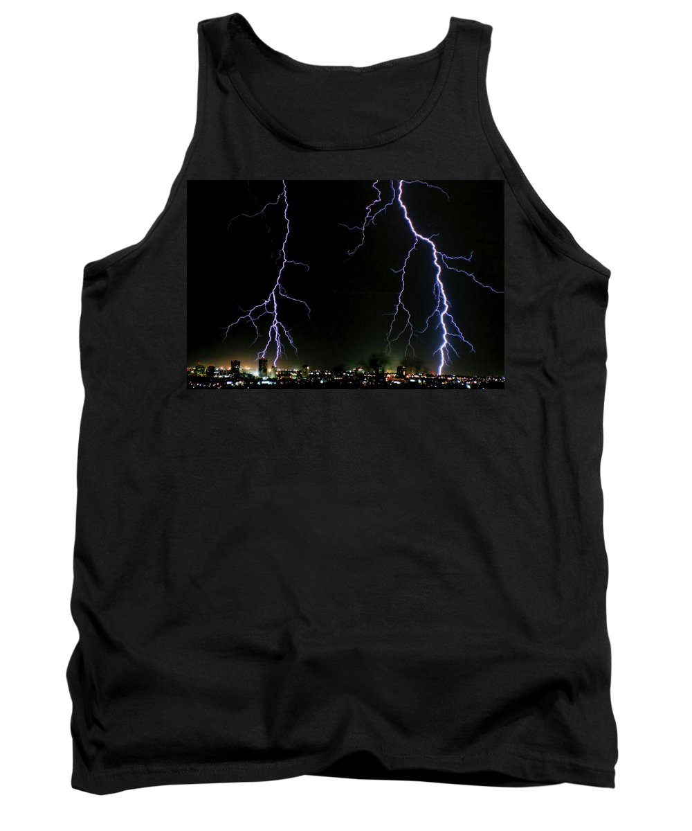 Arizona Tank Top featuring the photograph City Lights by Cathy Franklin