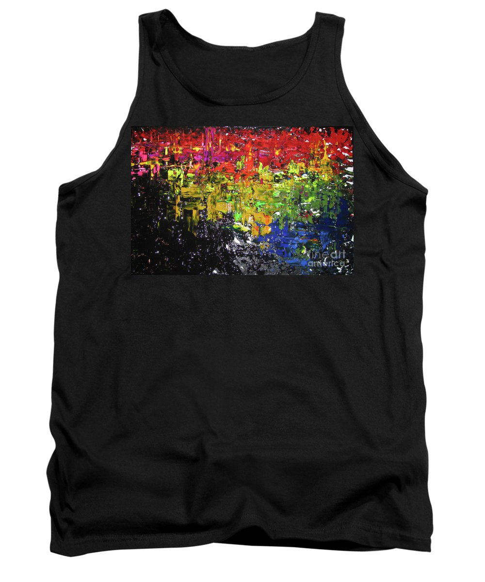 Abstract Tank Top featuring the painting City Lights by Jacqueline Athmann