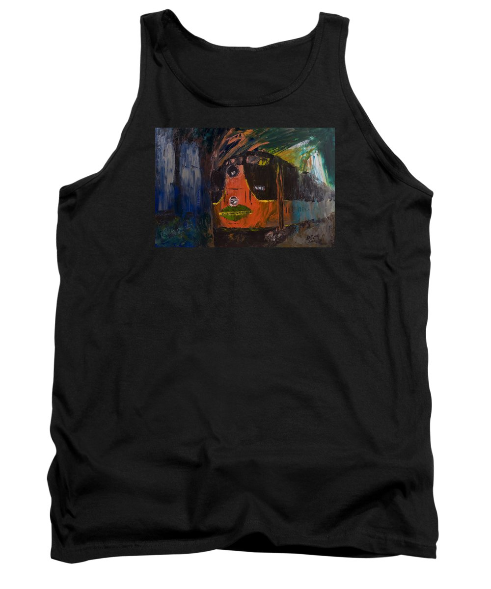 Train Tank Top featuring the painting City Of New Orleans by David McGhee