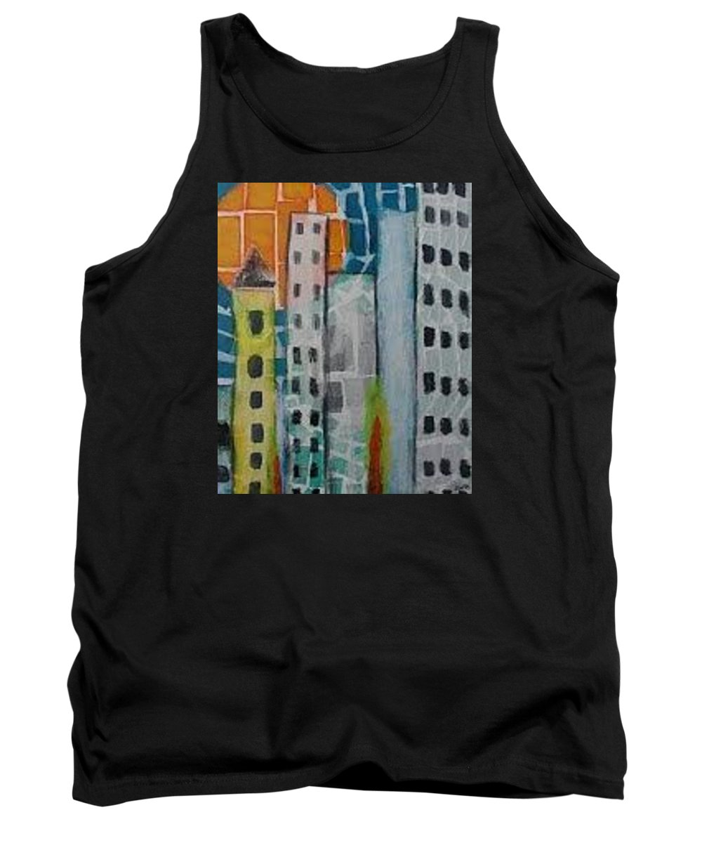City Scape Tank Top featuring the painting City Scape by Jennifer Whitworth