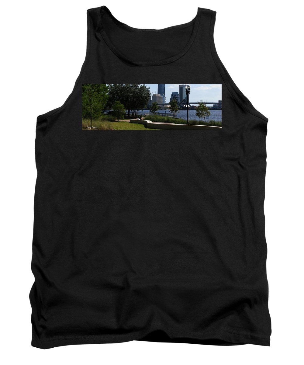 Art For The Wall...patzer Photography Tank Top featuring the photograph City Way by Greg Patzer
