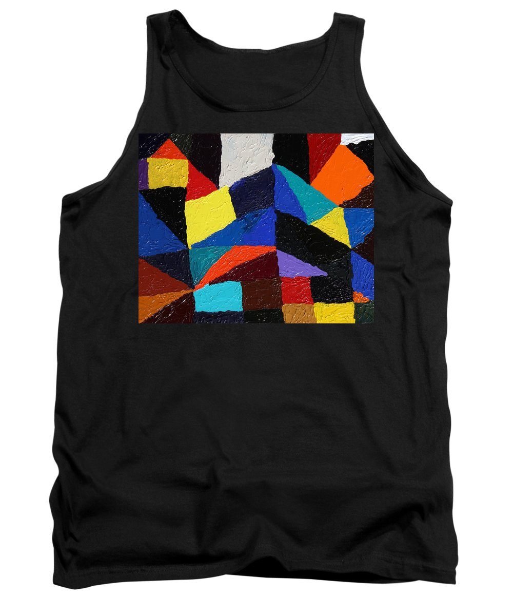 Fusionart Tank Top featuring the painting Cityscape by Ralph White