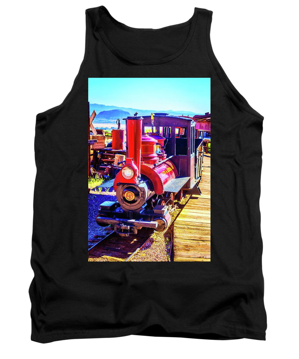 Calico Tank Top featuring the photograph Classic Calico Train by Garry Gay