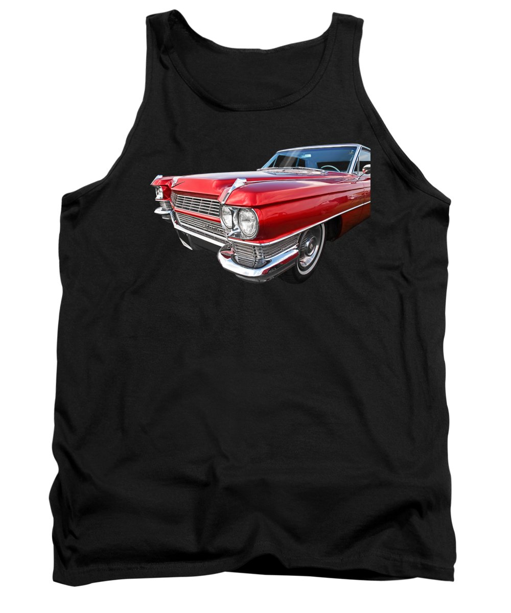 Cadillac Tank Top featuring the photograph Classy - '64 Cadillac by Gill Billington