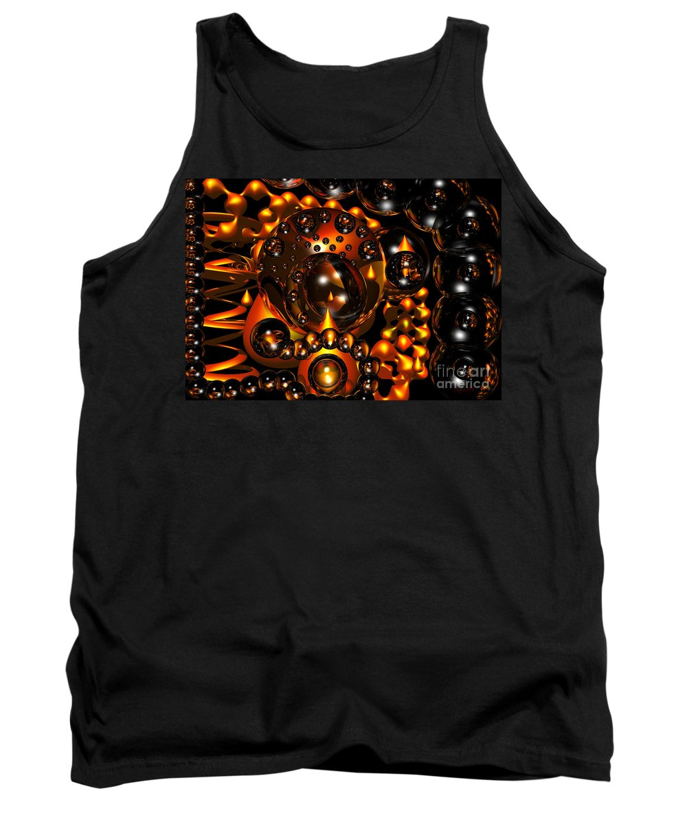 Sphere Tank Top featuring the digital art Clean And Sober by Robert Orinski
