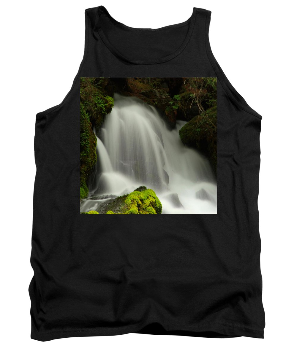 Clearwater Falls Tank Top featuring the photograph Clearwater Falls 1 by Ingrid Smith-Johnsen