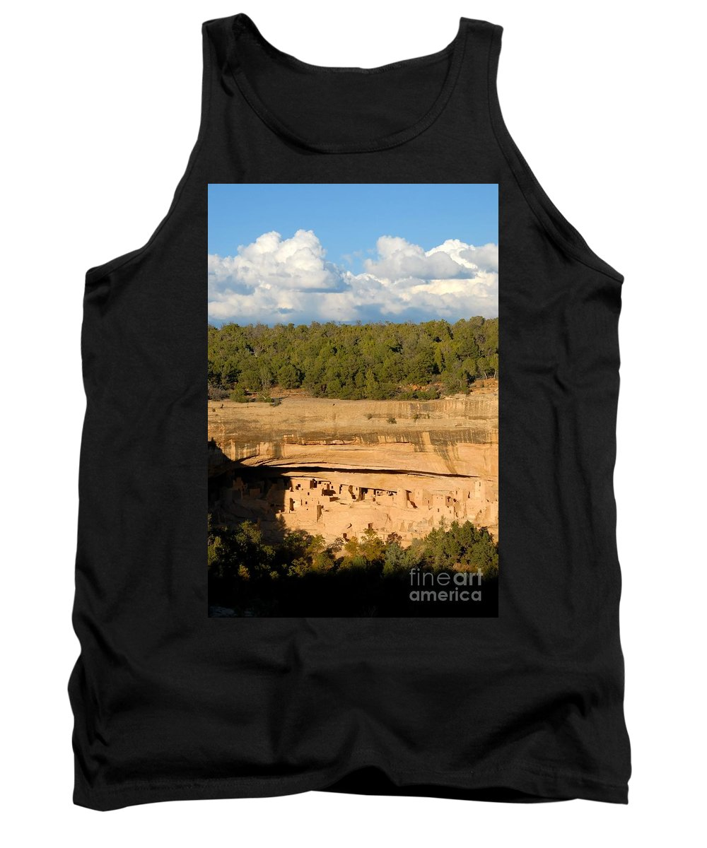 Cliff Palace Tank Top featuring the photograph Cliff Palace Landscape by David Lee Thompson