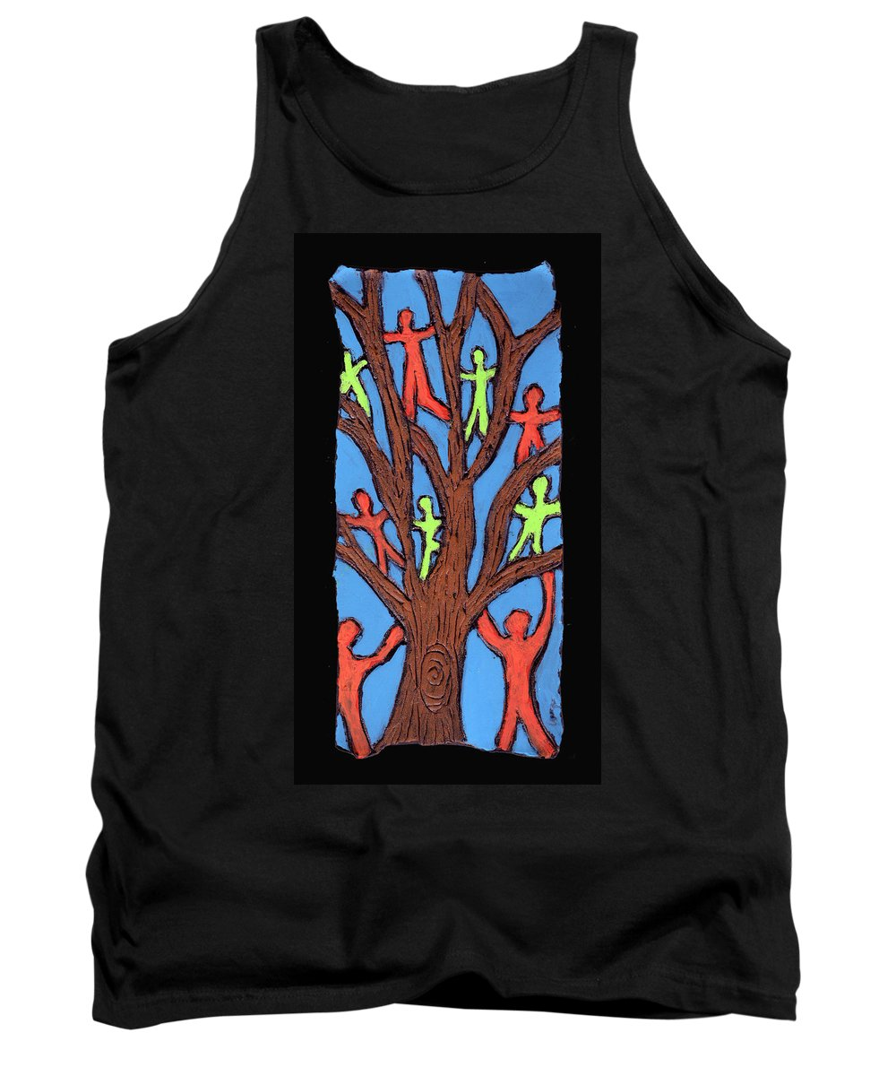 People Tank Top featuring the painting Climbing by Wayne Potrafka