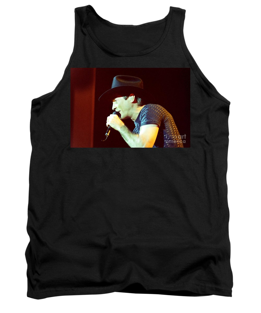 Clint Black Tank Top featuring the photograph Clint Black-0840 by Gary Gingrich Galleries