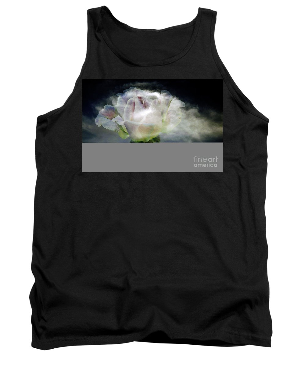 Clay Tank Top featuring the photograph Cloud Rose by Clayton Bruster