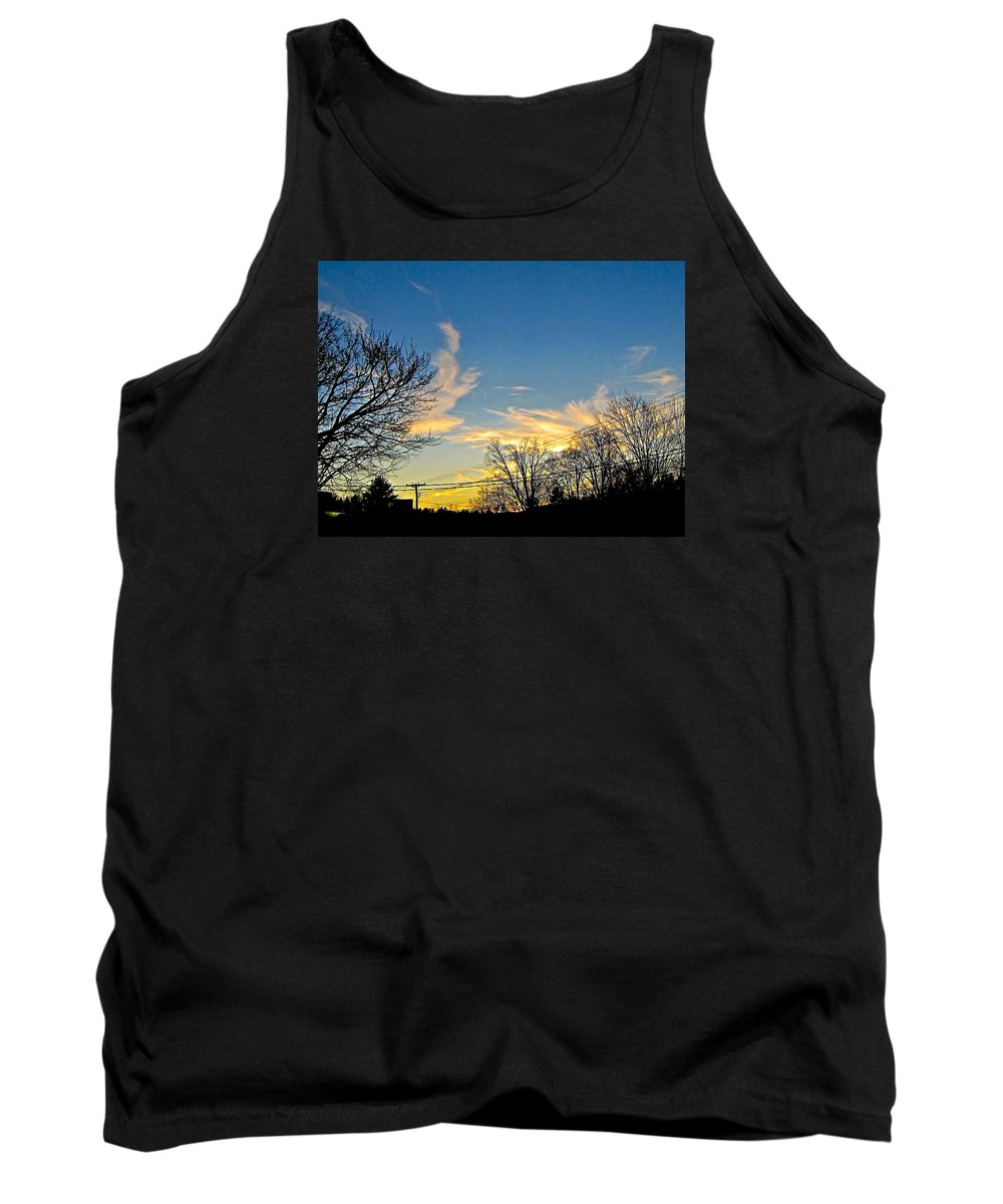 Tank Top featuring the photograph Clouds Dancing To The Sunset Light by Elizabeth Tillar