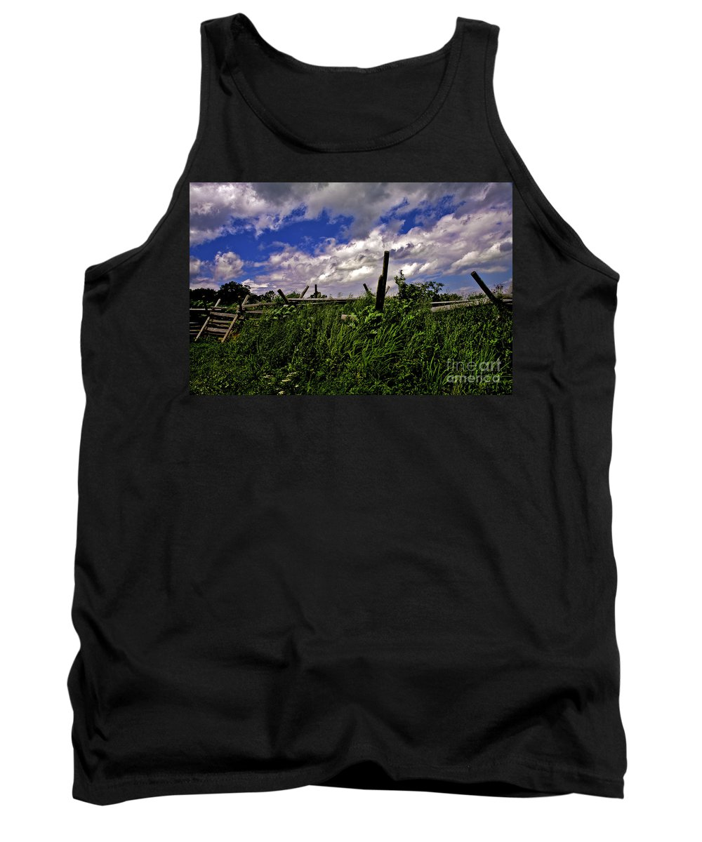 Field Tank Top featuring the photograph Clouds Over Gettysburg by Madeline Ellis