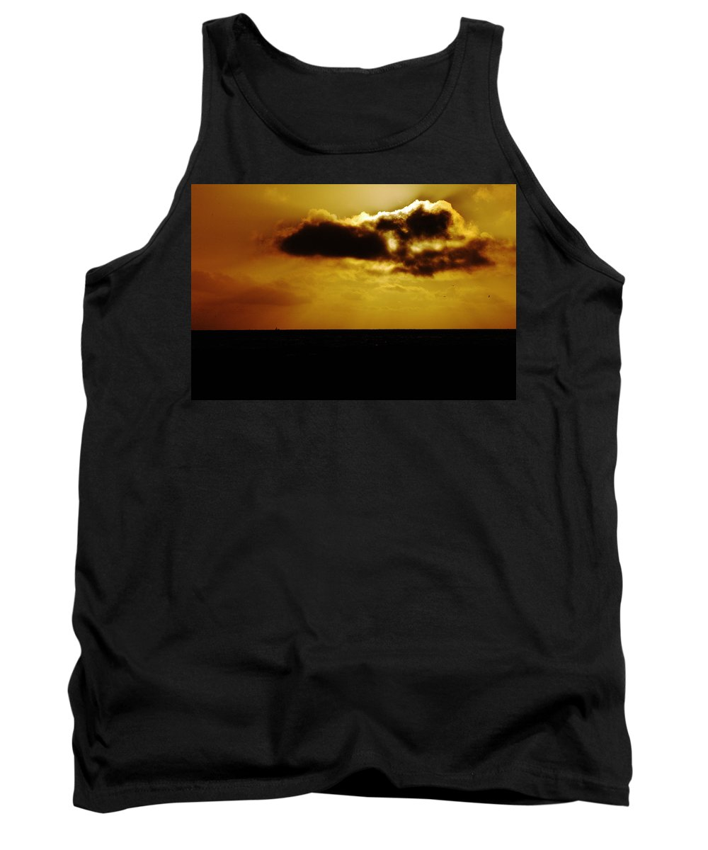 Clay Tank Top featuring the photograph Clouds Over The Ocean by Clayton Bruster