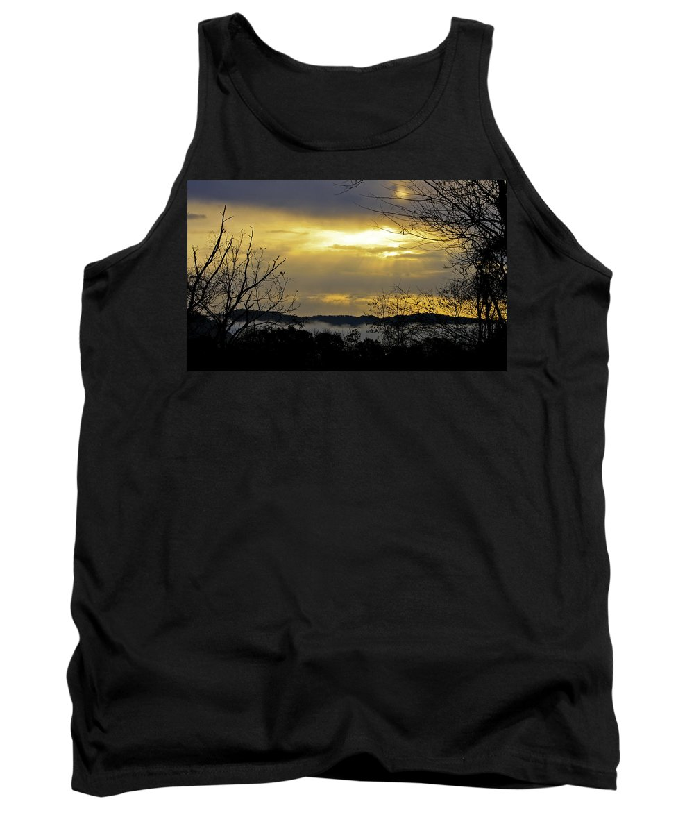 Sunrise Tank Top featuring the photograph Cloudy Sunrise 1 by Teresa Mucha