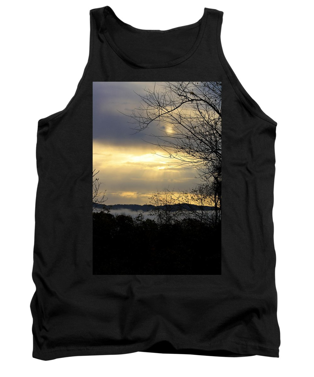 Sunrise Tank Top featuring the photograph Cloudy Sunrise 2 by Teresa Mucha