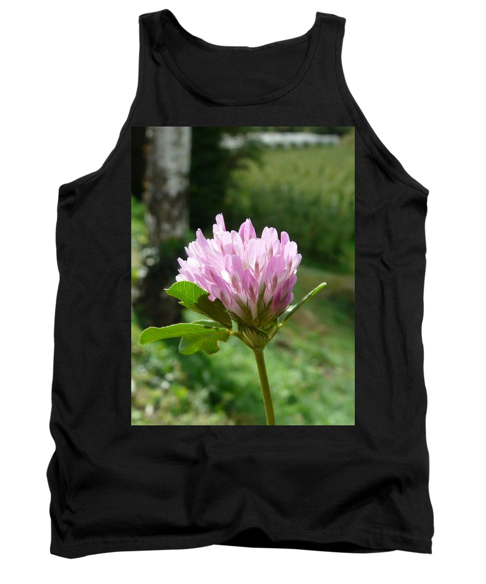 Red Tank Top featuring the photograph Clover 1 by Valerie Ornstein