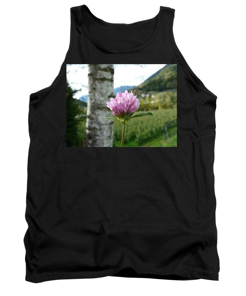 Red Tank Top featuring the photograph Clover 2 by Valerie Ornstein