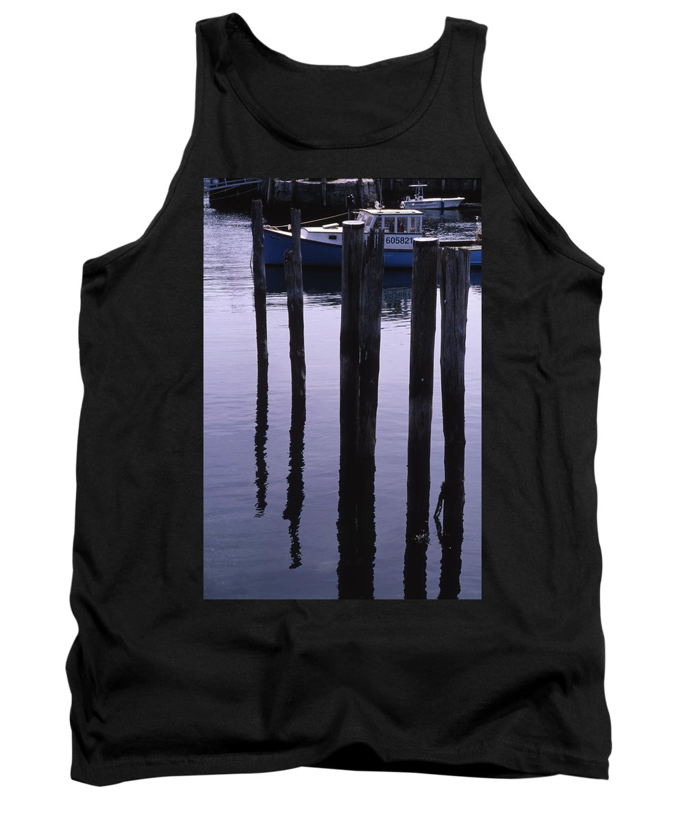 Landscape New England Fishing Boat Nautical Coast Tank Top featuring the photograph Cnrf0907 by Henry Butz