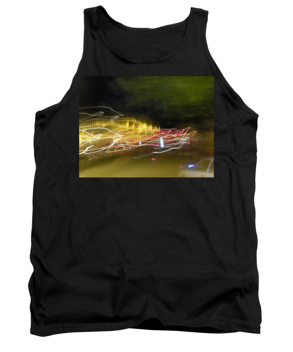 Photograph Tank Top featuring the photograph Coaster Of Lights by Thomas Valentine