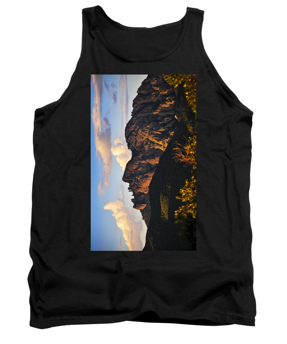 Cochise Head Tank Top featuring the photograph Cochise Head by Skip Hunt