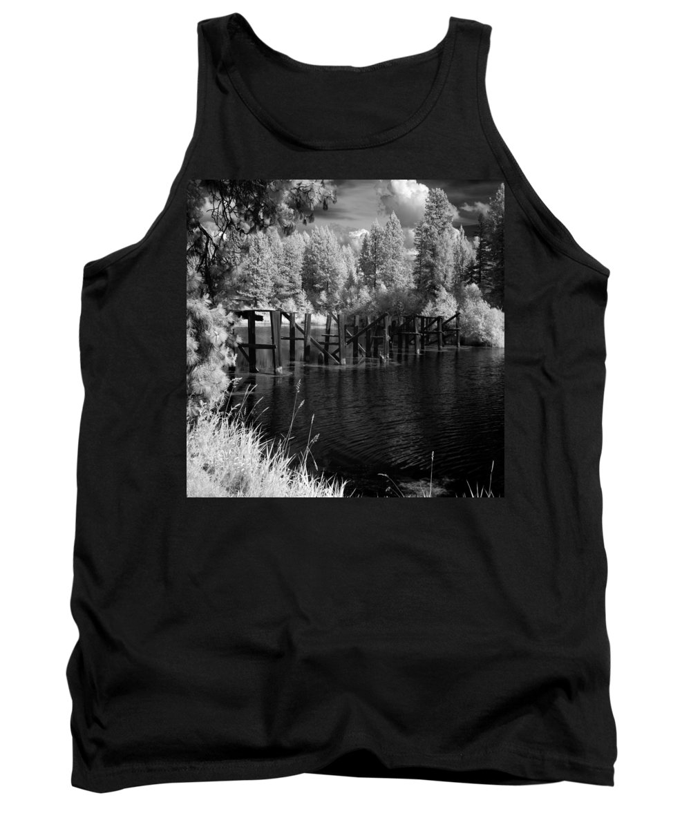 Landscape Tank Top featuring the photograph Cocolala Creek Slough by Lee Santa