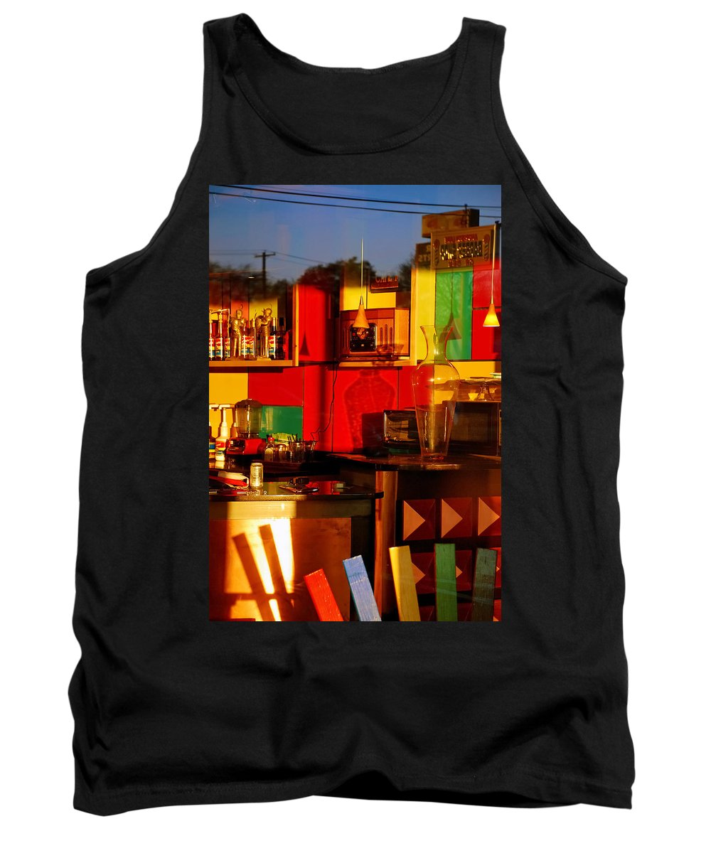 Skip Hunt Tank Top featuring the photograph Coffee Shop by Skip Hunt