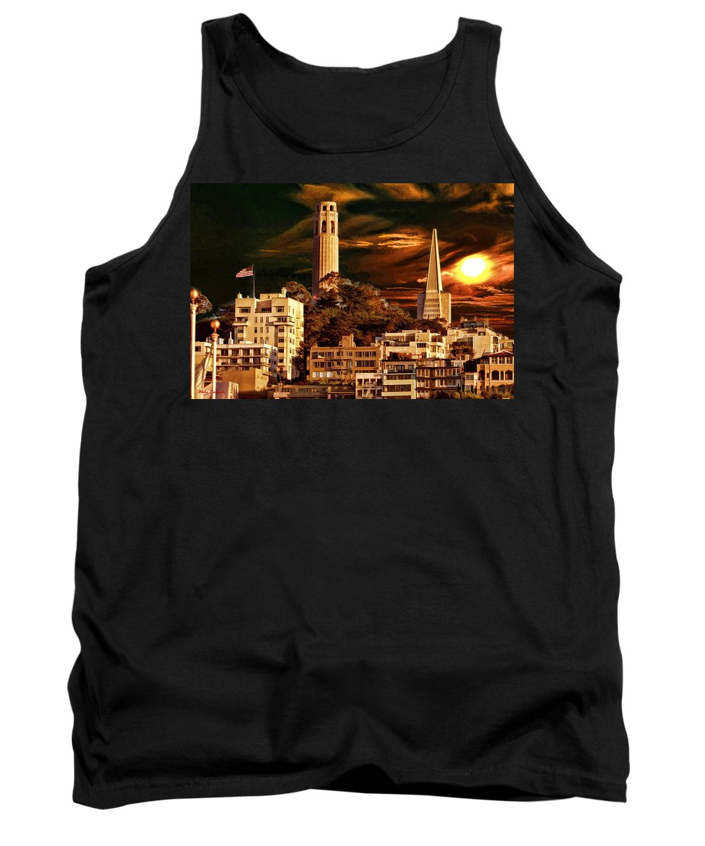 Art Photography Tank Top featuring the photograph Coit Pyramid by Blake Richards