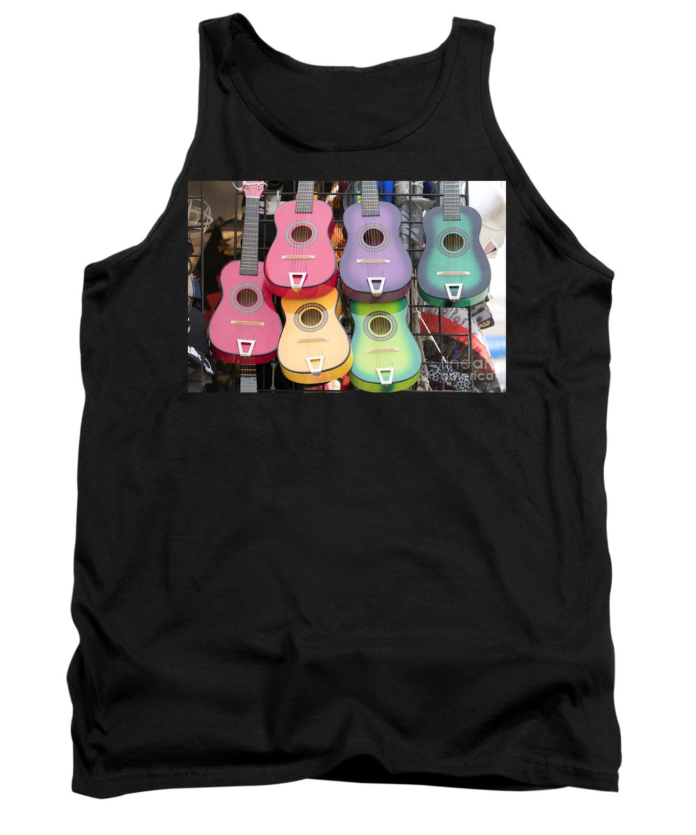 Guitars Tank Top featuring the photograph Color Guitars by Alan Thwaites