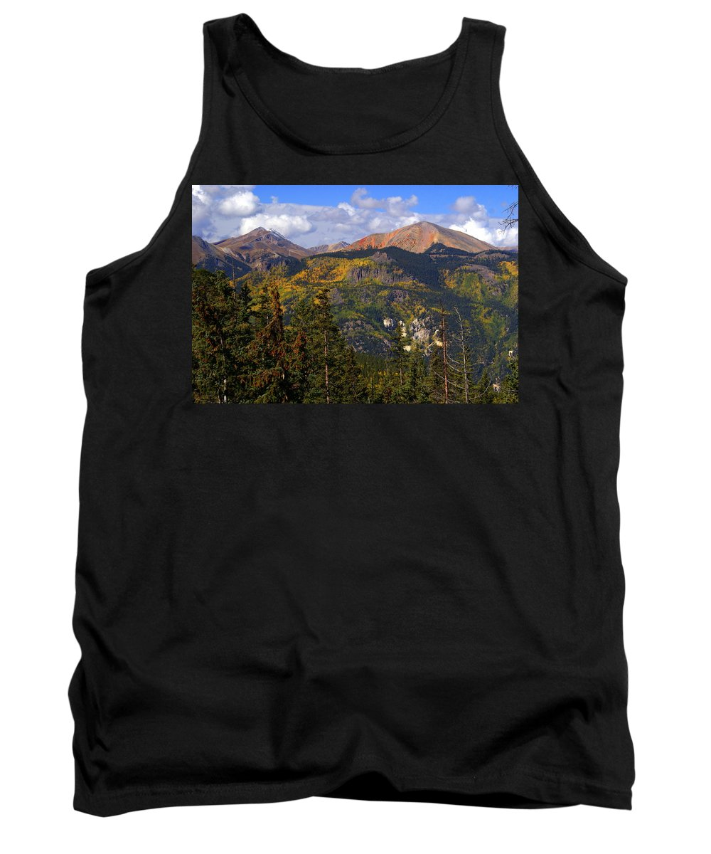Mountain Tank Top featuring the photograph Colorado Fall by Marty Koch