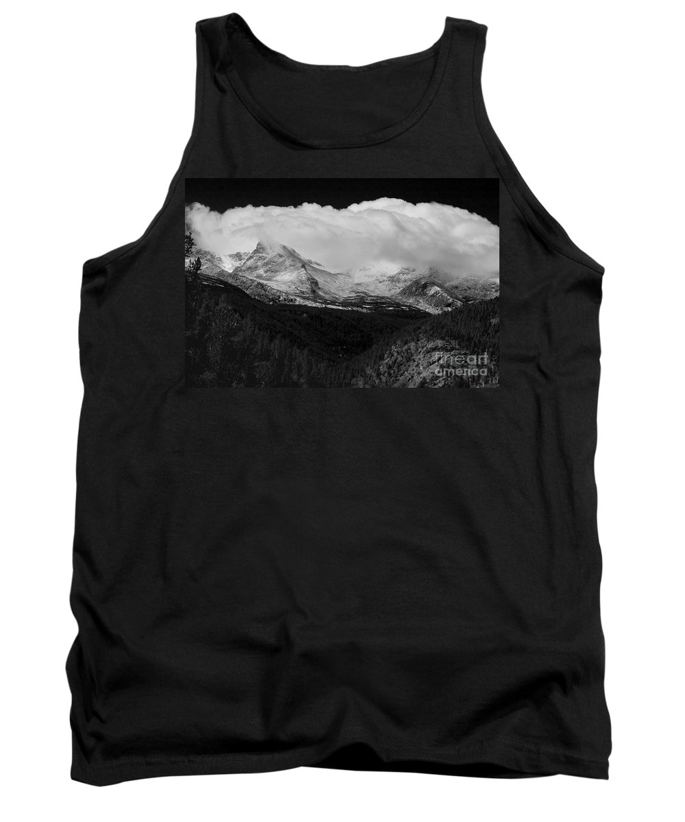 Colorado.b&w Tank Top featuring the photograph Colorado Rocky Mountains Continental Divide by James BO Insogna