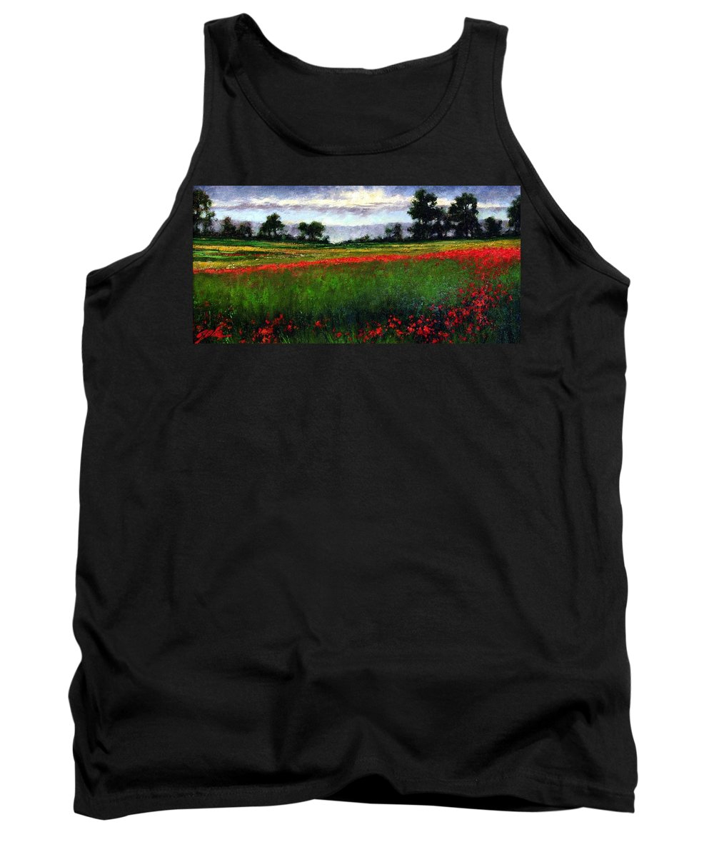 Landscape Tank Top featuring the painting Colorburst by Jim Gola