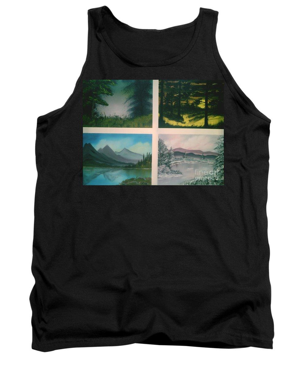 Landscape's Tank Top featuring the painting Colors Of Landscape 2 by Jim Saltis