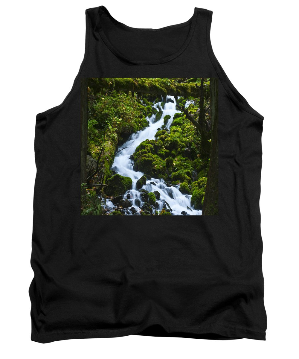 Clearwater Falls Tank Top featuring the photograph Columbia Gorge 1 by Ingrid Smith-Johnsen