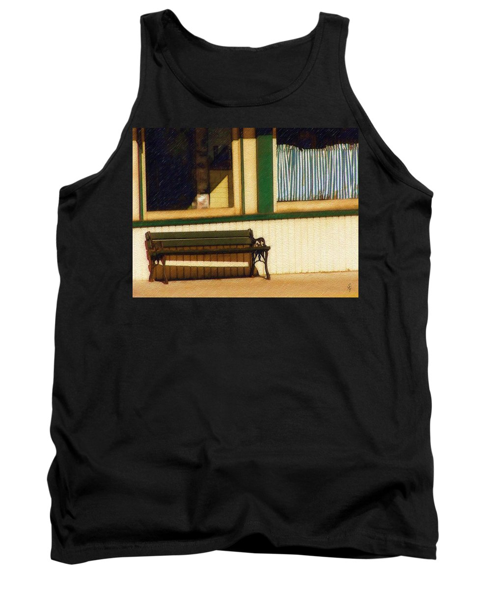 Bench Tank Top featuring the photograph Come Sit A Spell by Sandy MacGowan