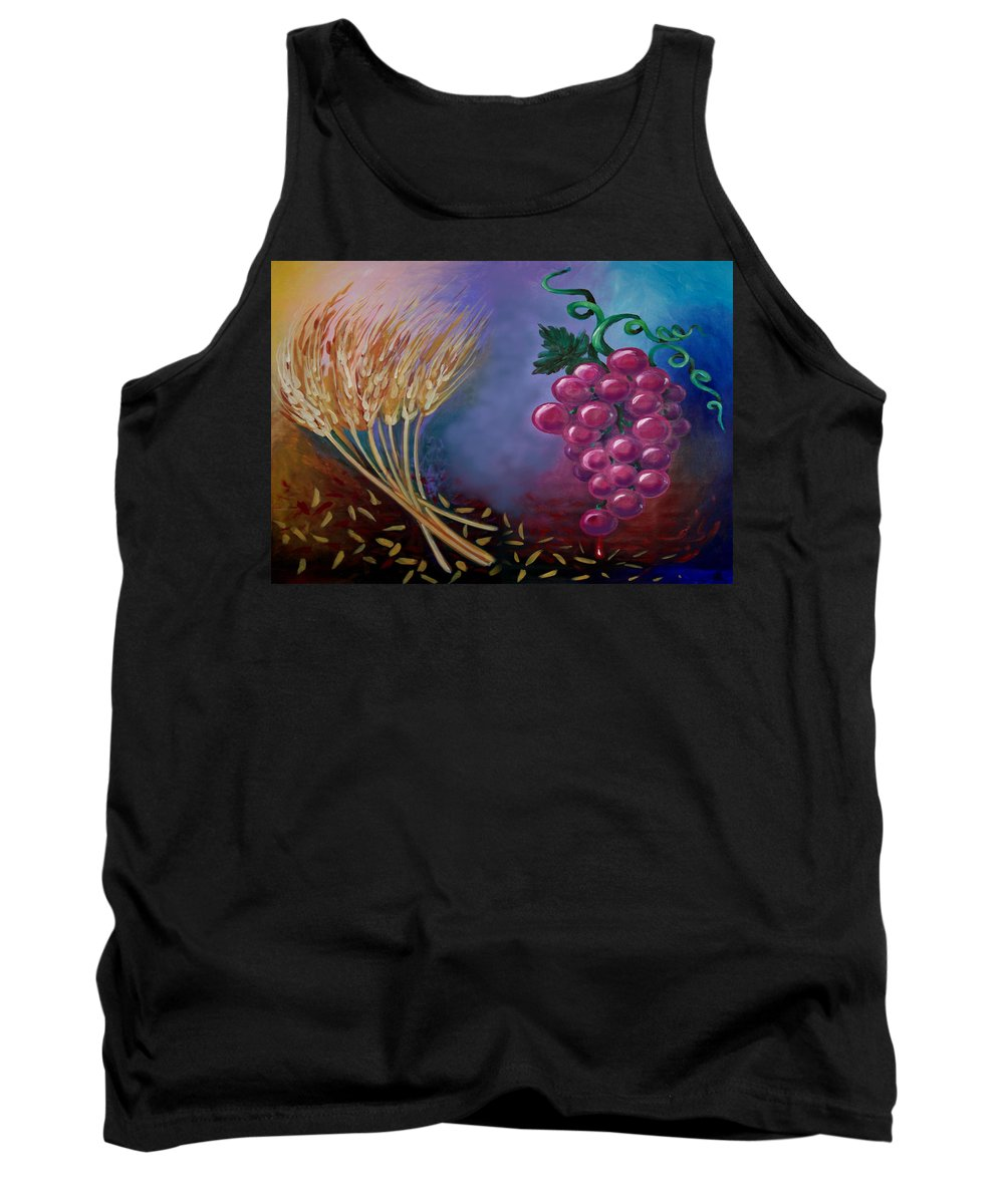 Communion Tank Top featuring the painting Communion by Kevin Middleton