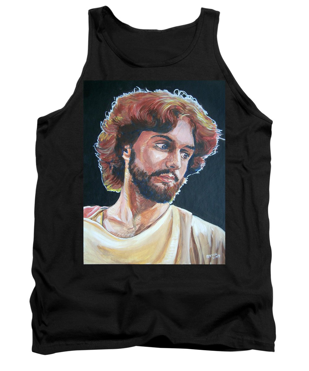 Jesus Christ Tank Top featuring the painting Compassionate Christ by Bryan Bustard