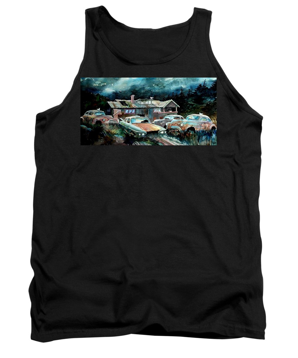 House Tank Top featuring the painting Compound In Cumberland Gap by Ron Morrison