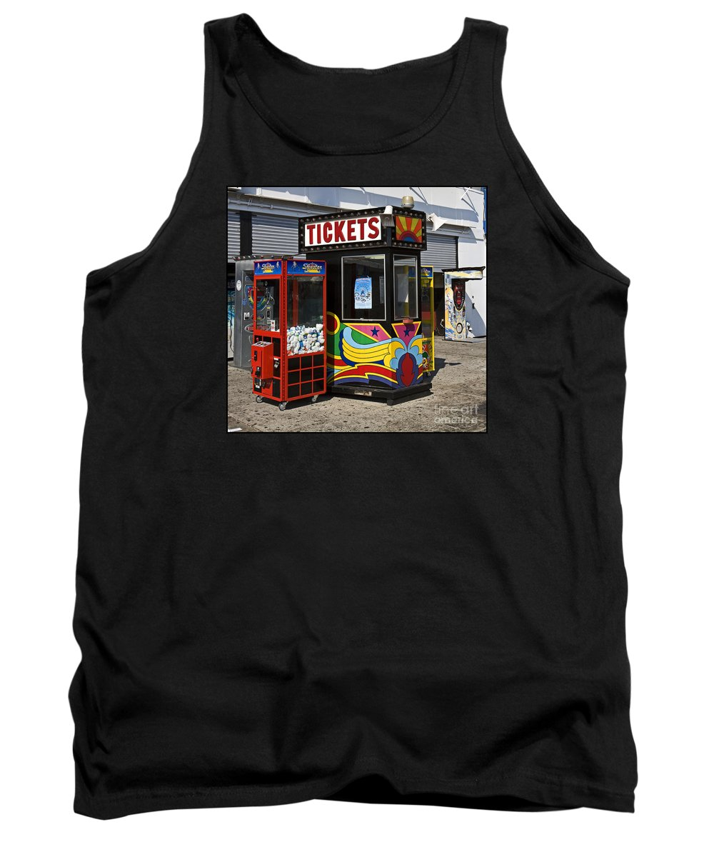 Coney Island Tank Top featuring the photograph Coney Island Memories 3 by Madeline Ellis