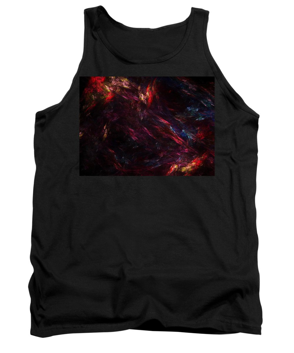 Abstract Digital Painting Tank Top featuring the digital art Conflict by David Lane