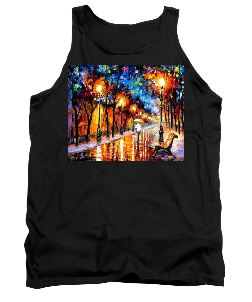 Afremov Tank Top featuring the painting Contemplation by Leonid Afremov