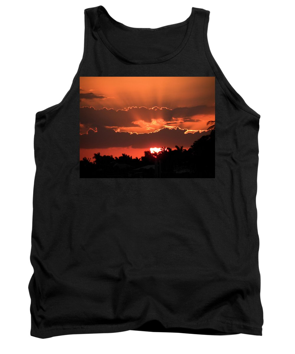 Sunset Tank Top featuring the photograph Copper Sunset by Rosalie Scanlon