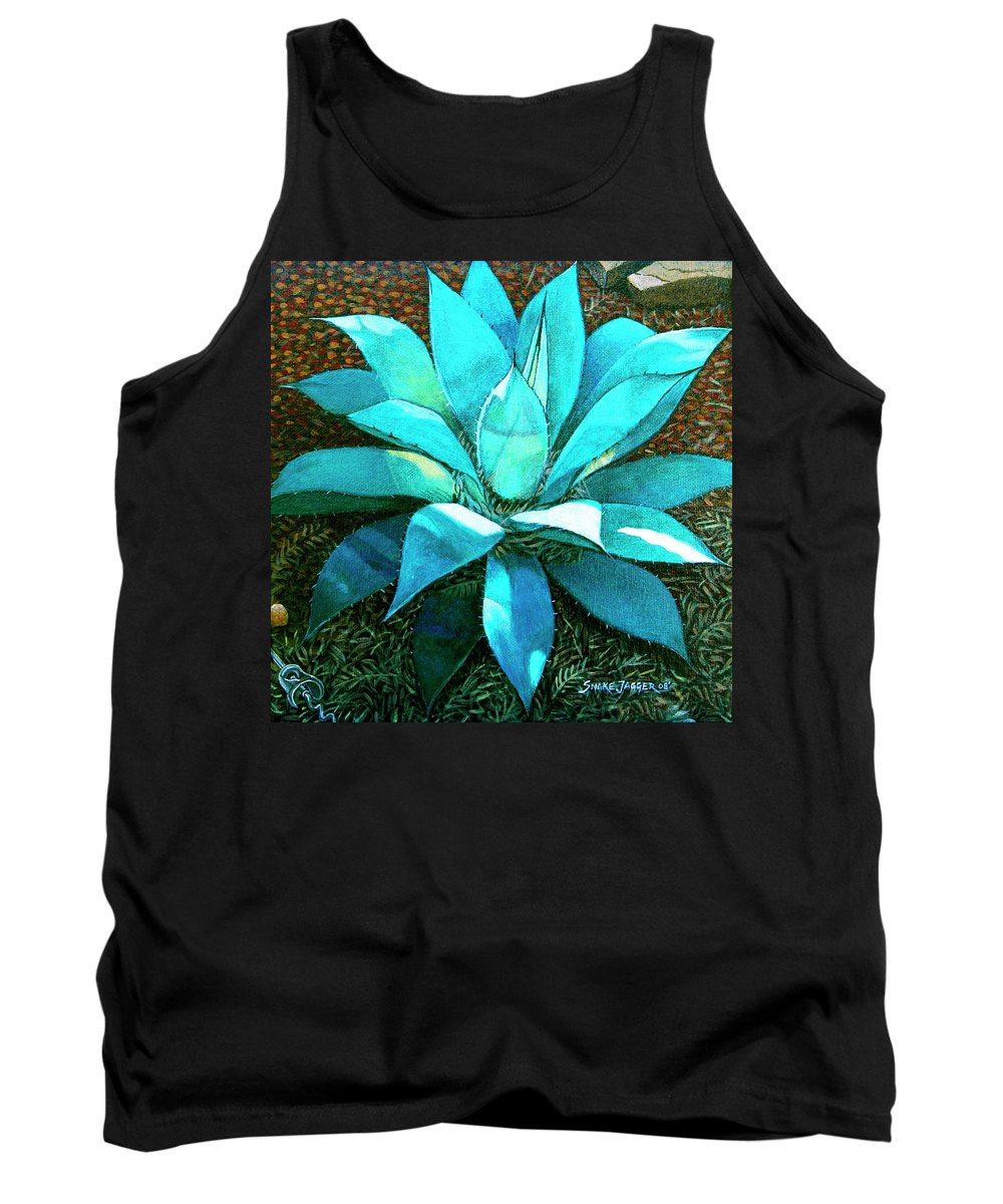 Cactus Tank Top featuring the painting Corkscrew by Snake Jagger