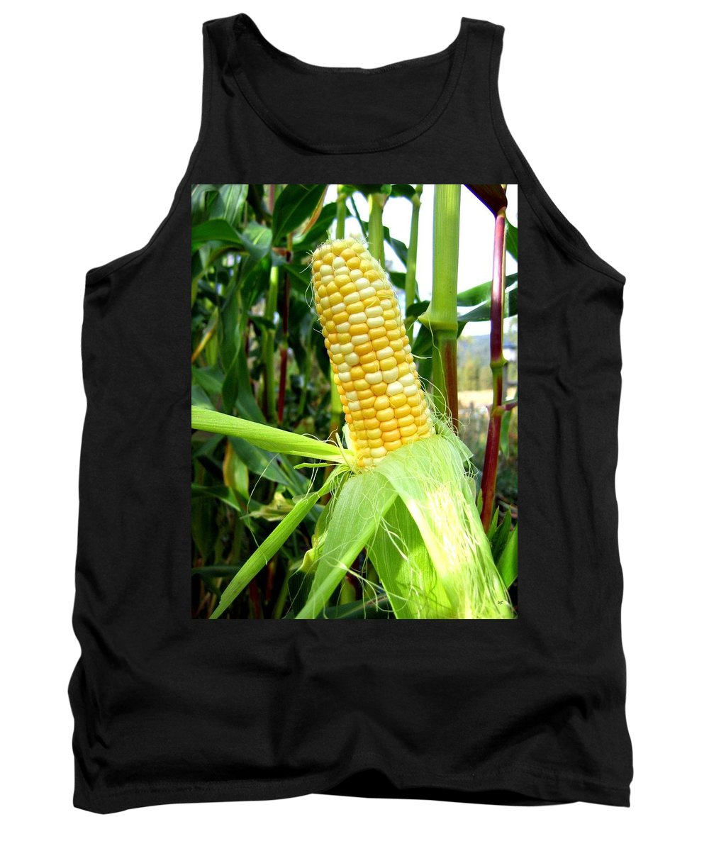 Corn Tank Top featuring the photograph Corn On The Cob by Will Borden