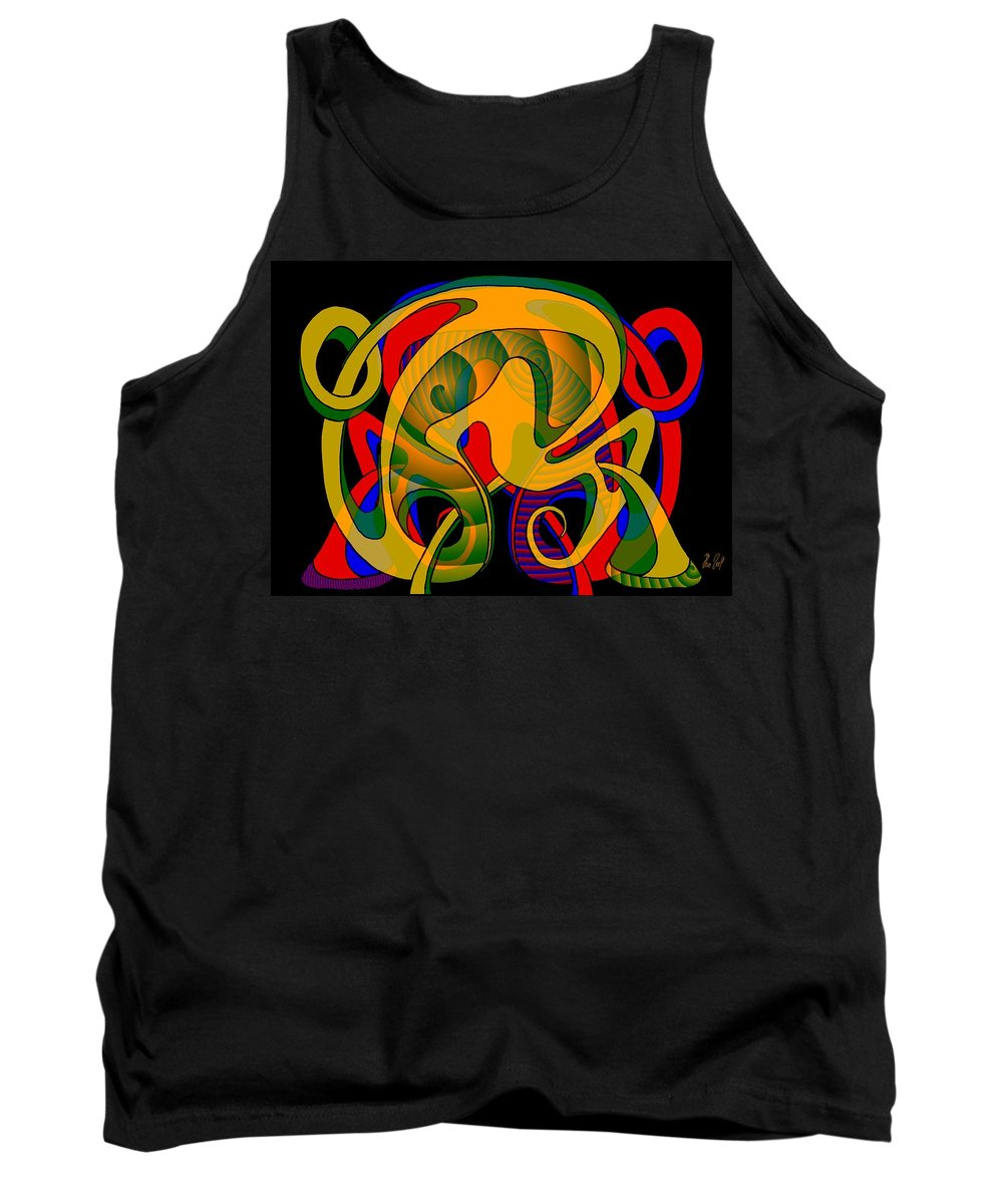 Life Tank Top featuring the digital art Corresponding Independent Lifes by Helmut Rottler