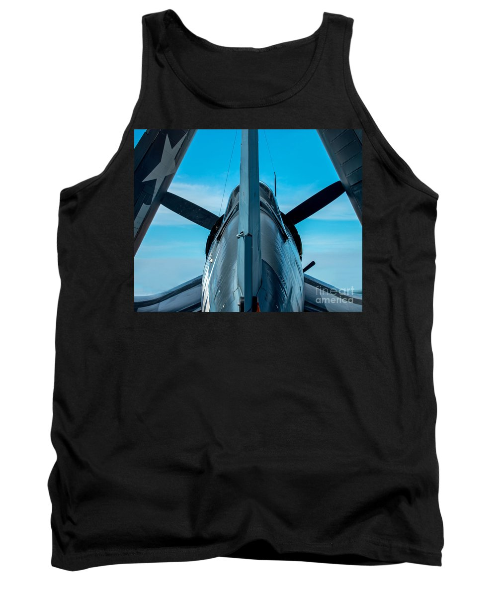 Corsair Tank Top featuring the photograph Corsair All Folded Up by Stephen Whalen