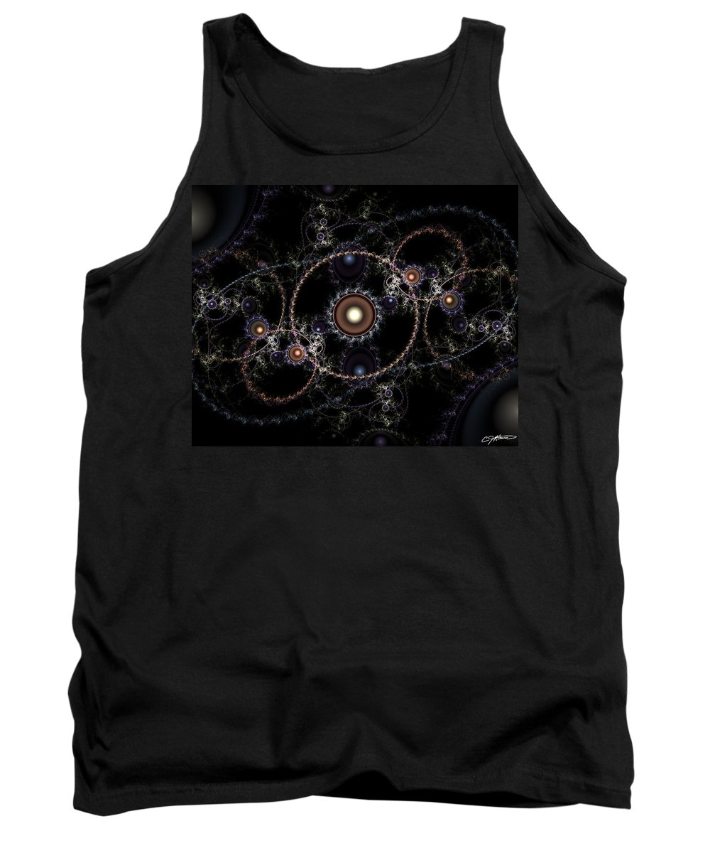 Abstract Tank Top featuring the digital art Cosmic Clockworks by Casey Kotas